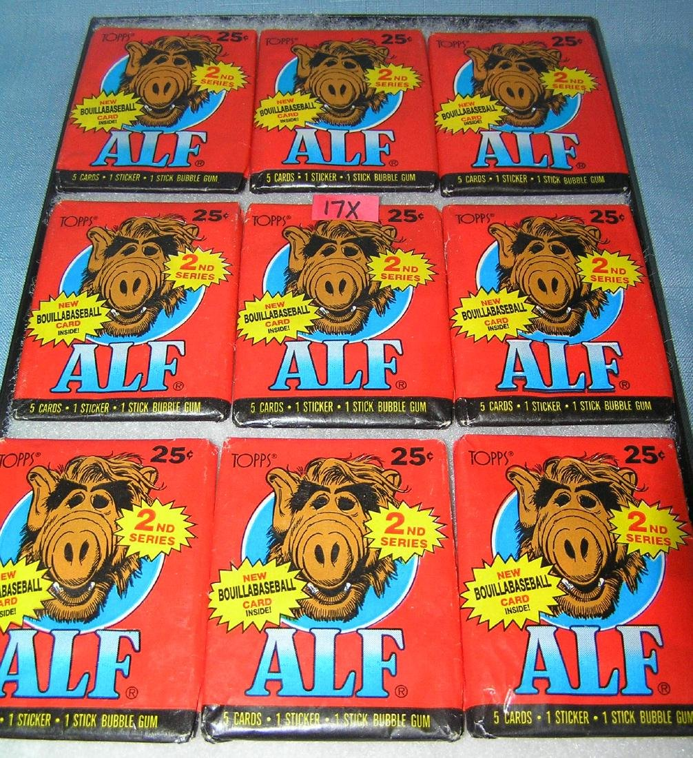 Collection of Alf unopened card packs