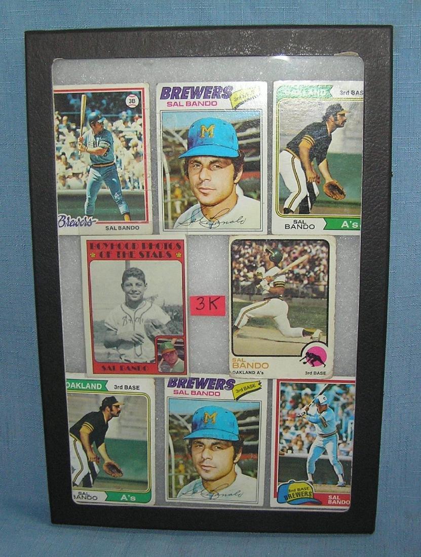 Group of vintage Sal Bando baseball cards