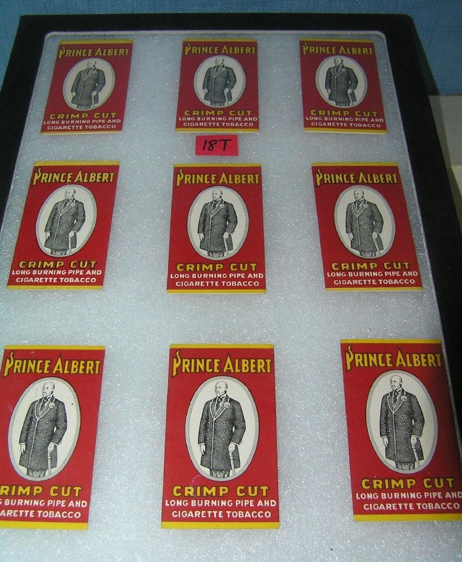Prince Albert crimp cut advertising rolling paper packs