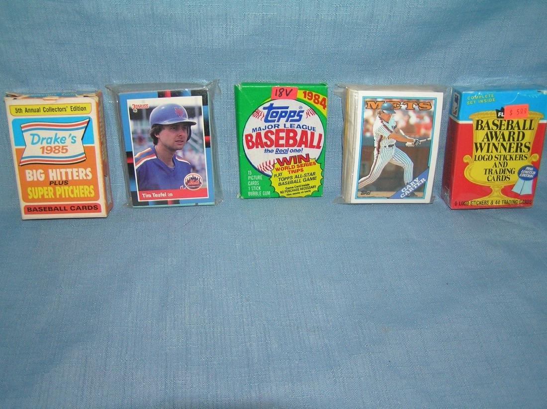 Group of vintage sports card packs