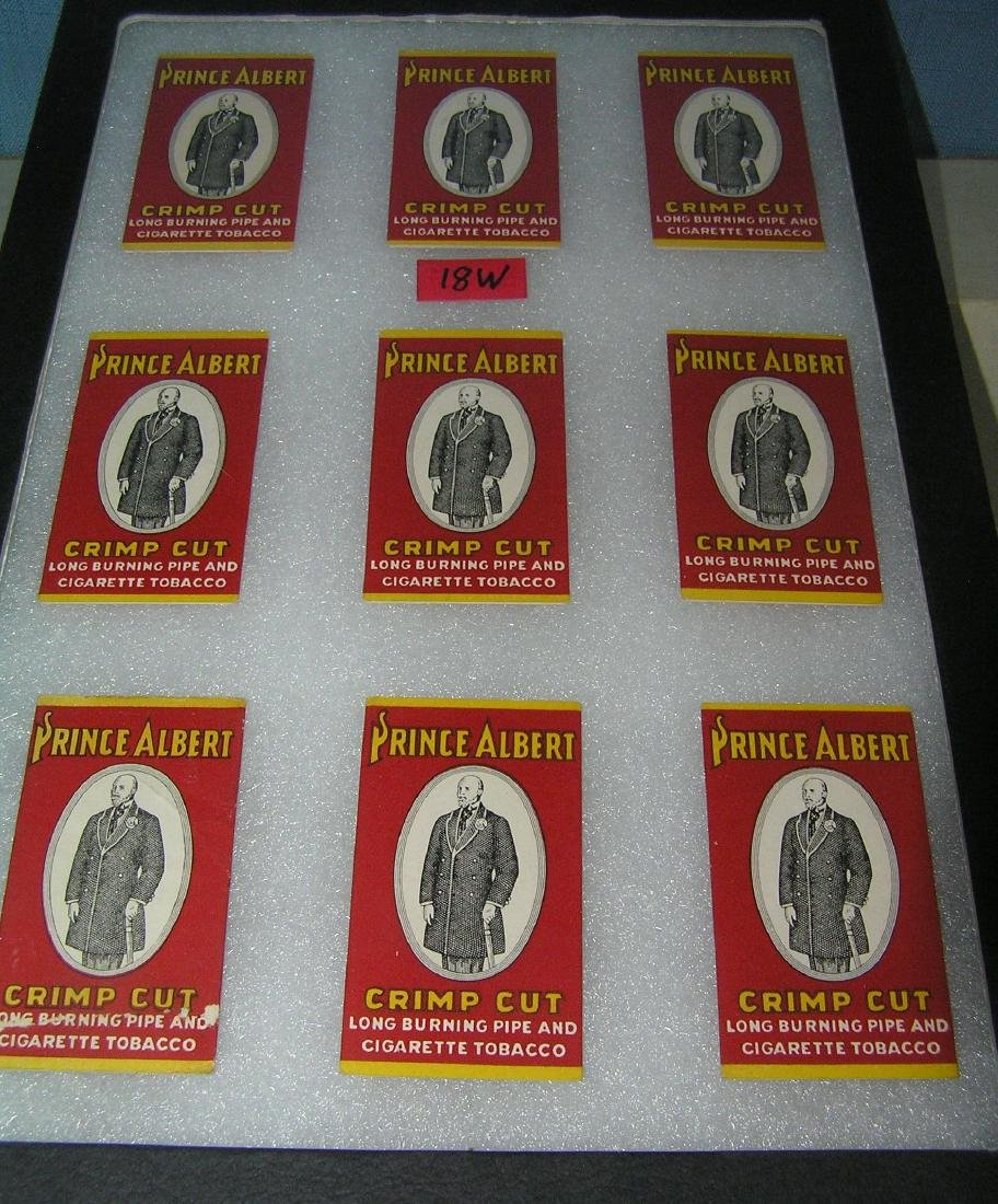 Prince Albert crimp cut advertising rolling paper packs