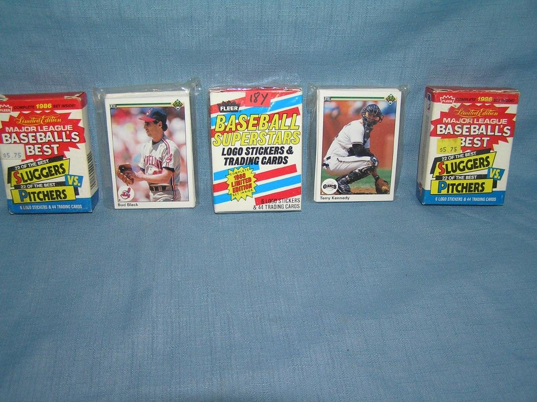 Group of vintage sports card packs