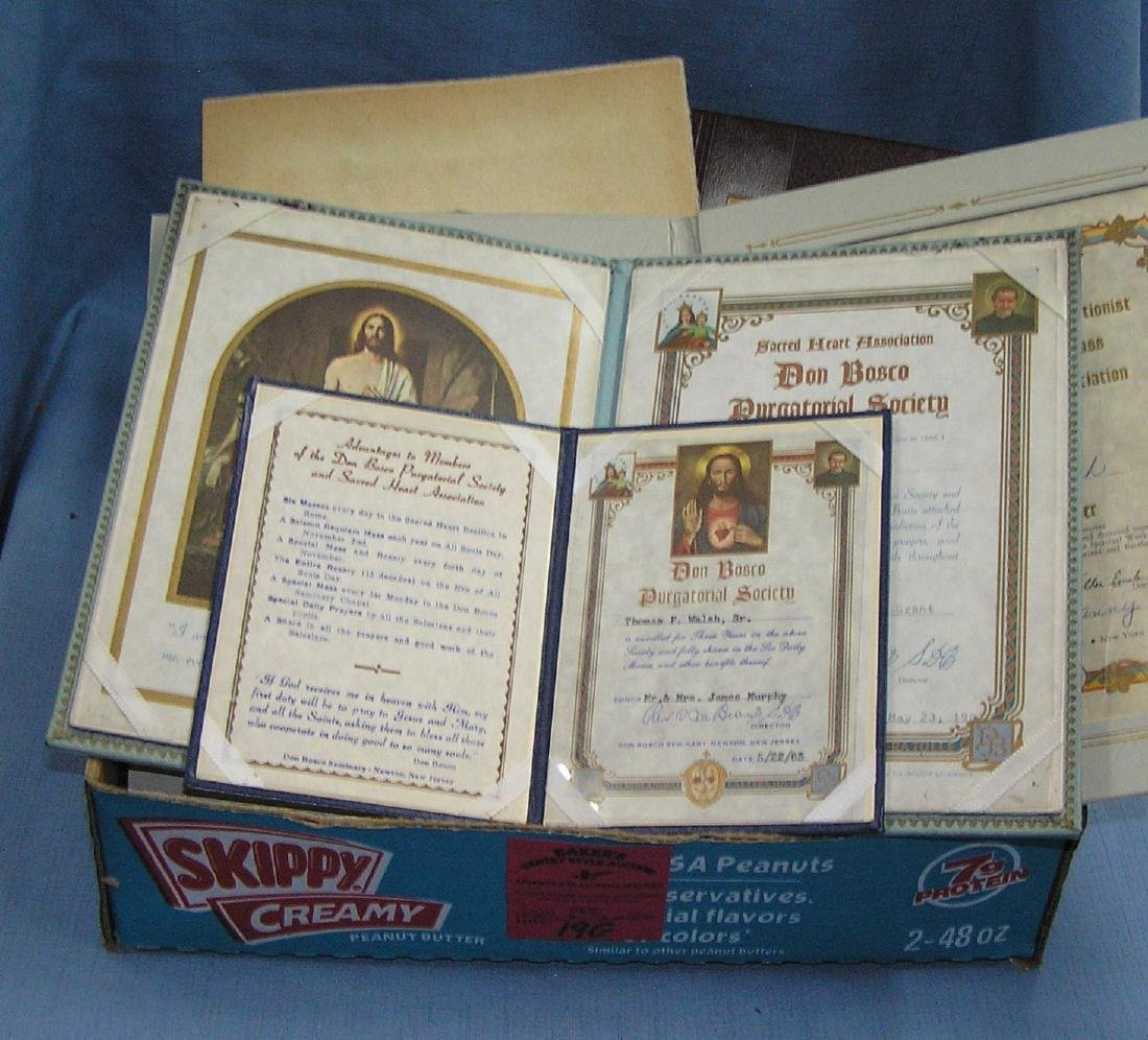 Vintage mass cards and religious collectibles