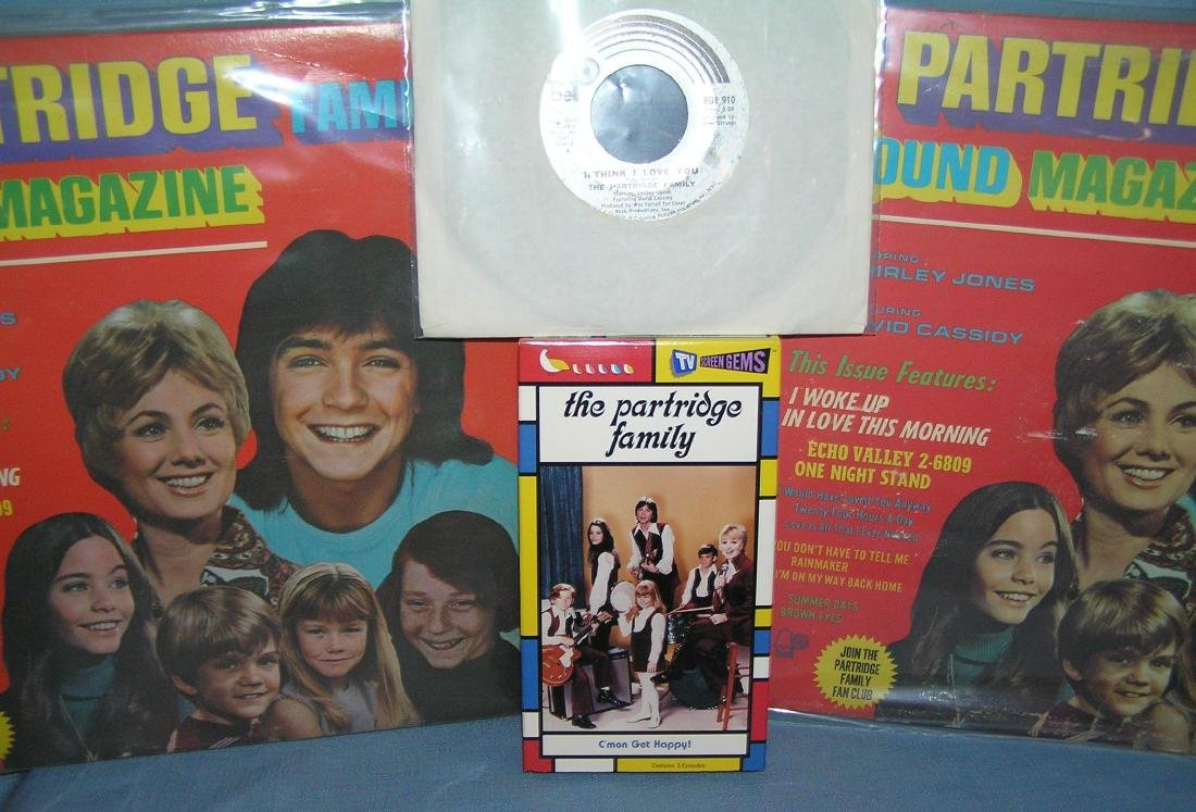 Group of Partridge Family collectibles