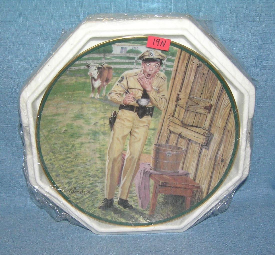 A Startling Conclusion Barney Fife collector plate