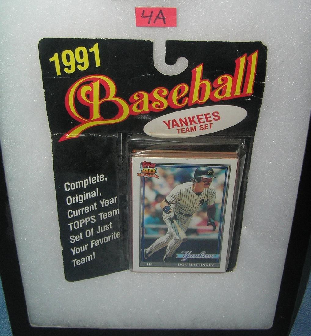 Don Mattingly and the NY Yankees baseball card game set