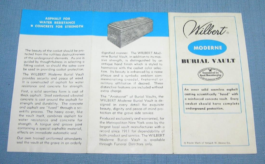 Vintage salesman sample burial vault - 4