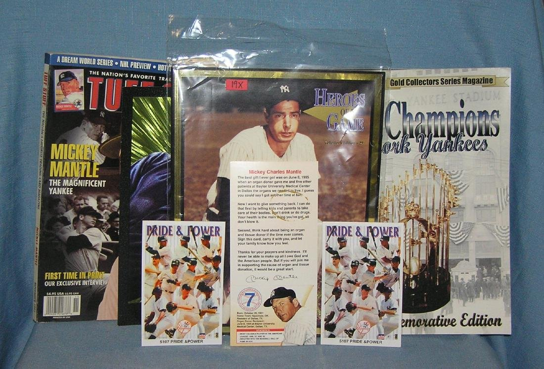 Group of NY Yankees collectibles