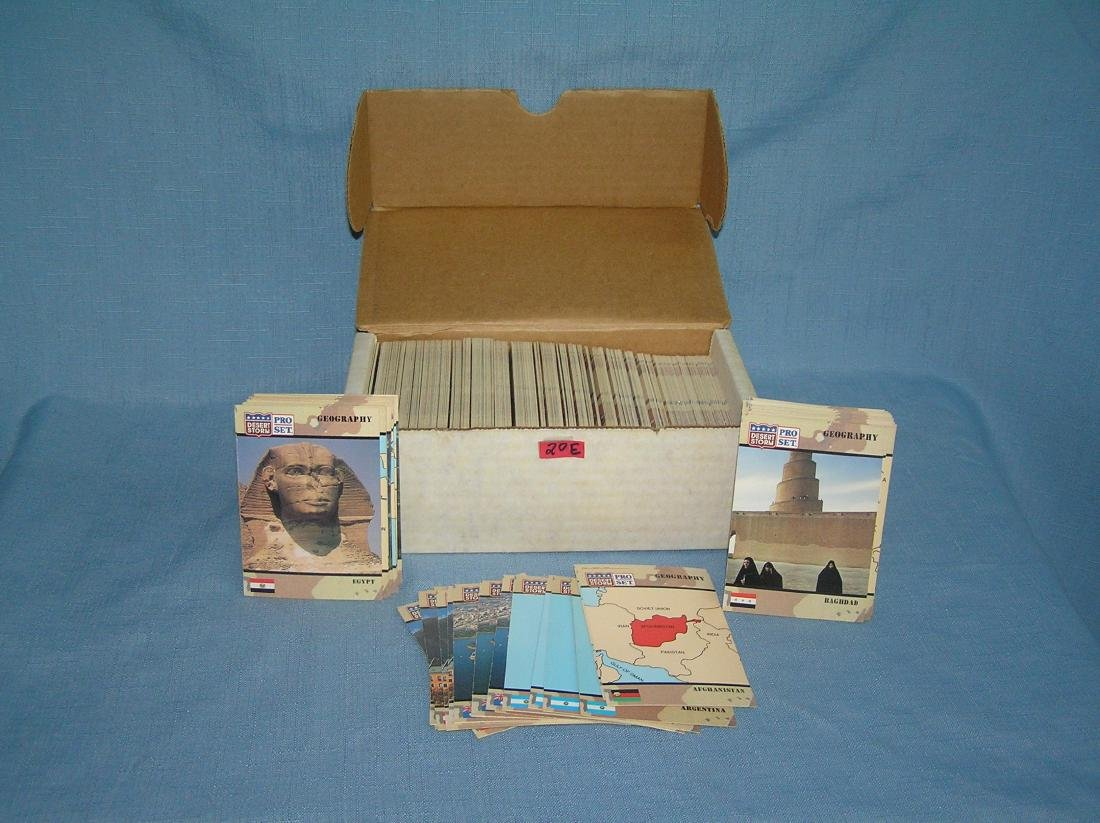 Desert Storm large box full of vintage cards