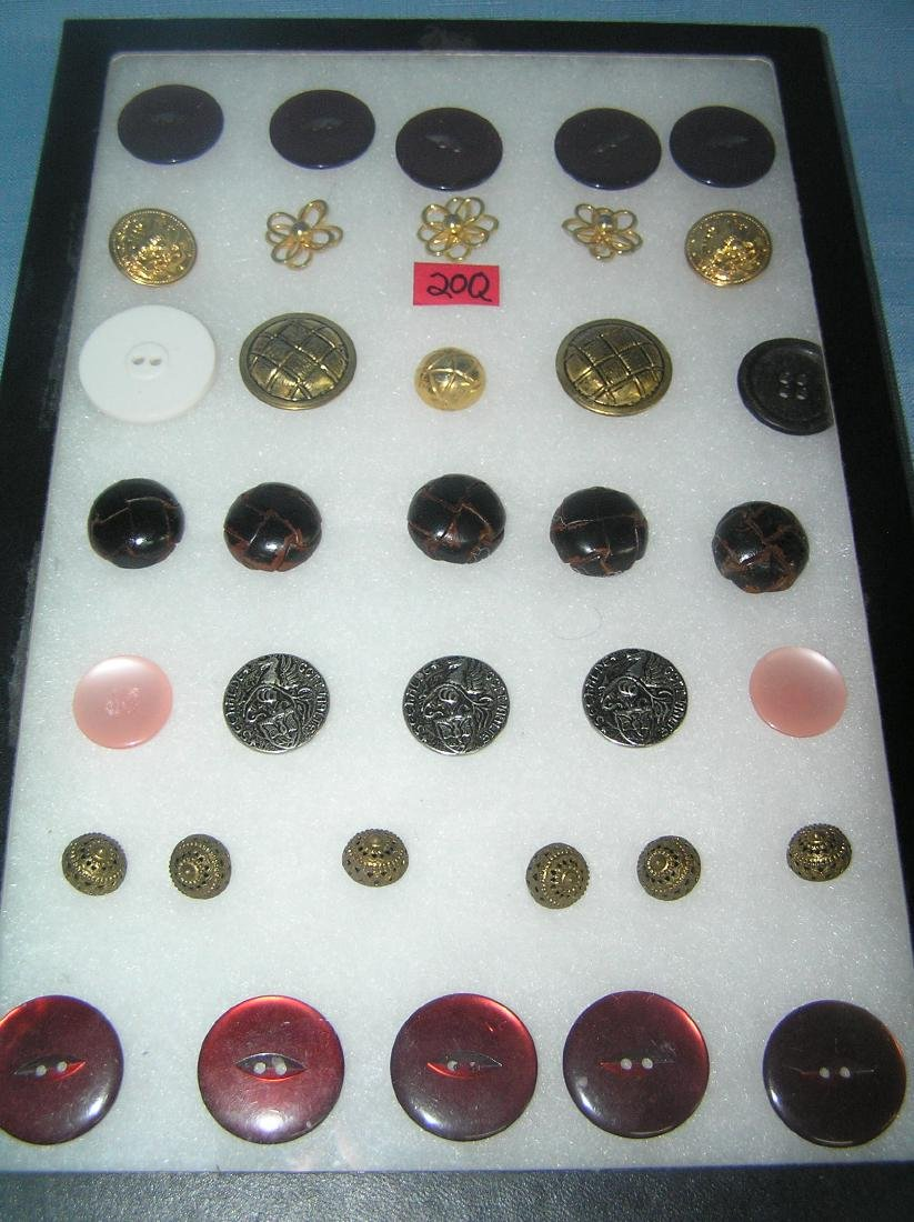 Collection of early sewing buttons