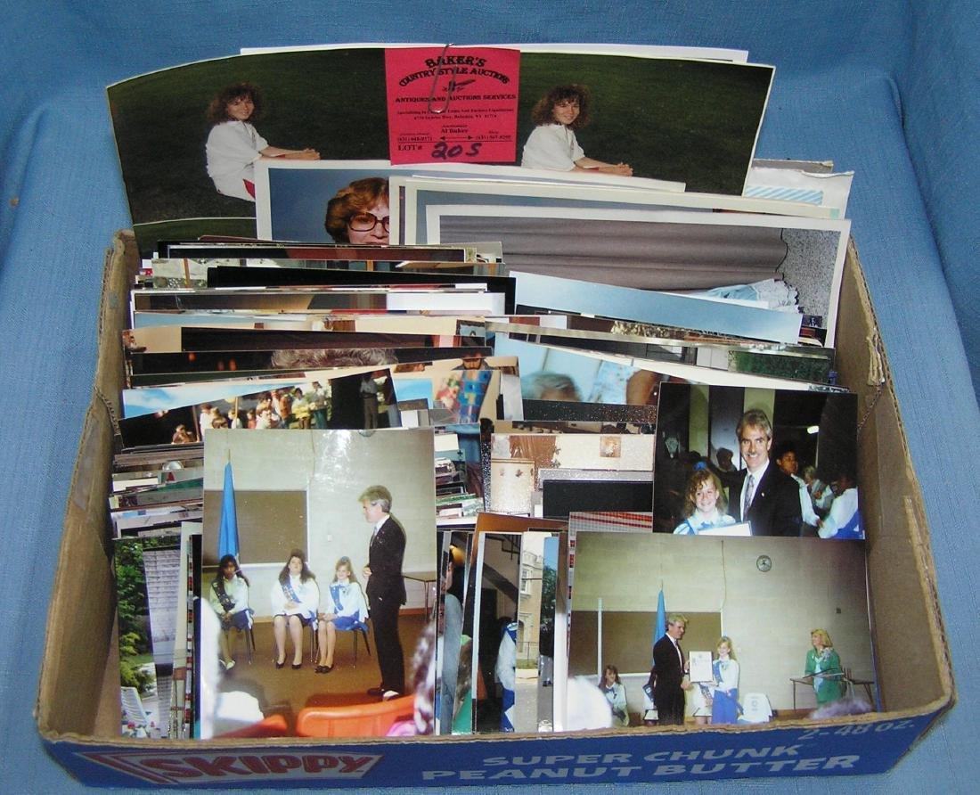 Box full of vintage photographs