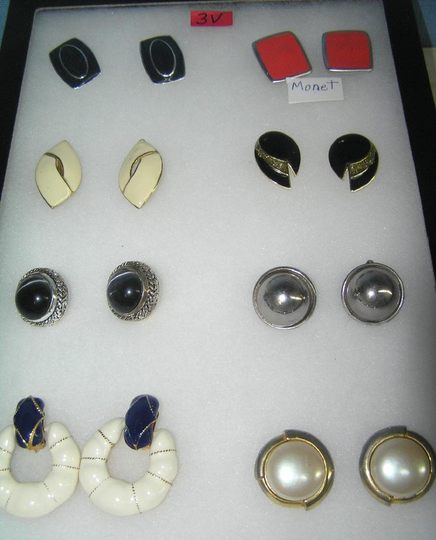 Collection of quality costume jewelry earrings