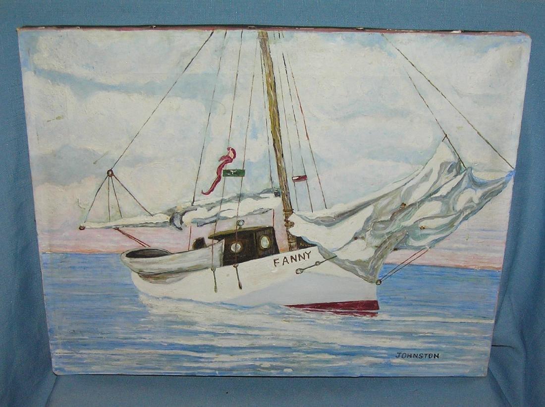 Fanny sail boat painting
