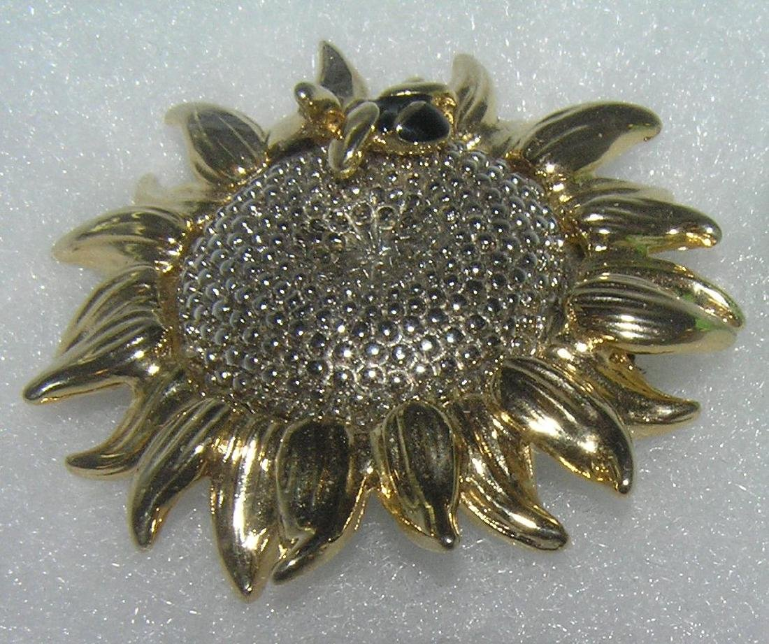High quality artist signed costume jewelry pin