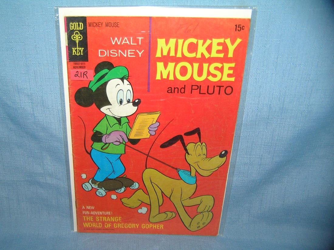 Early Disney Mickey Mouse and Pluto comic book