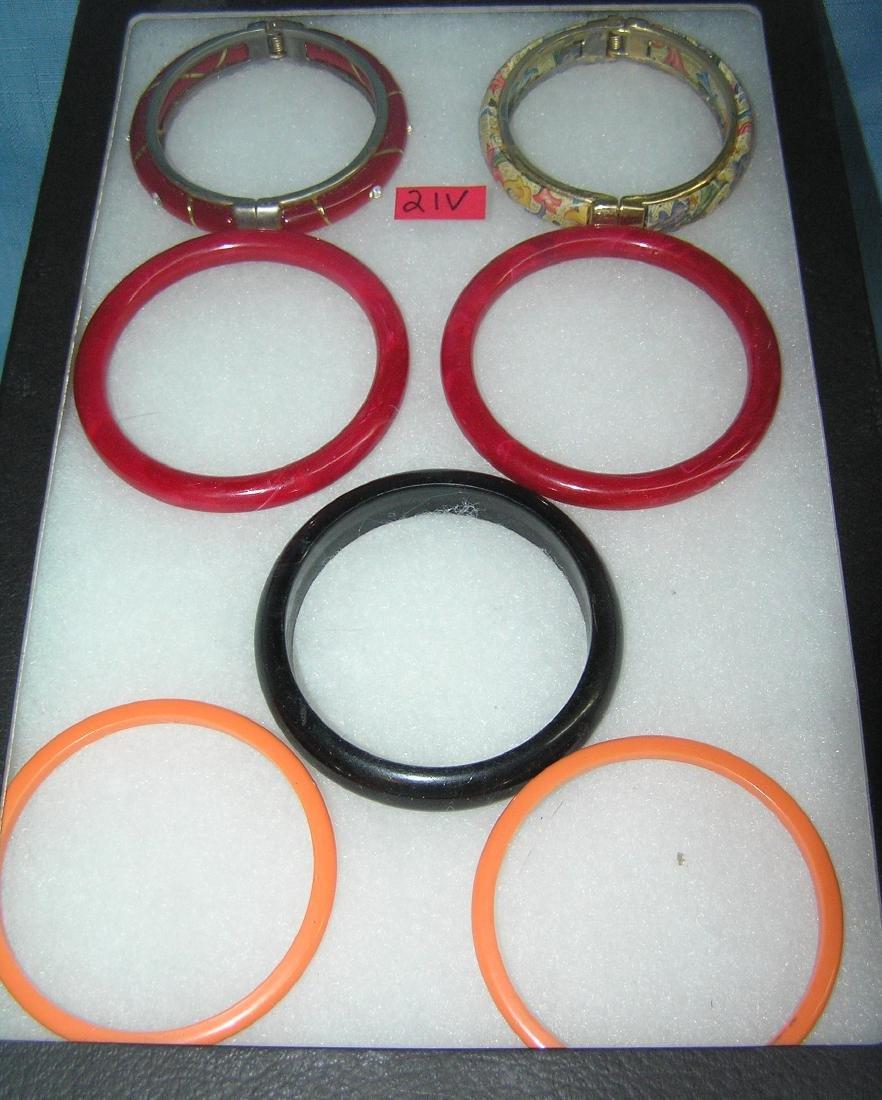 Group of quality costume jewelry bracelets
