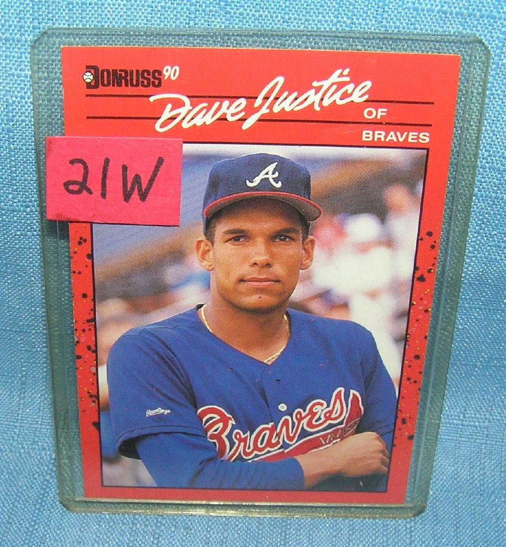 David Justice rookie baseball card