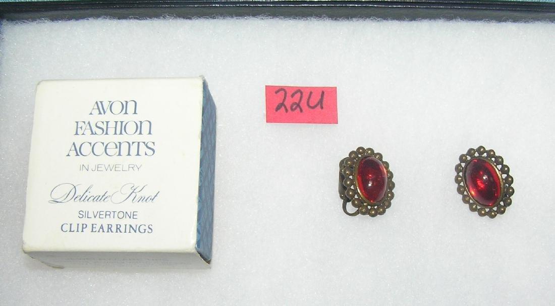 Pair of vintage Avon earrings with original box