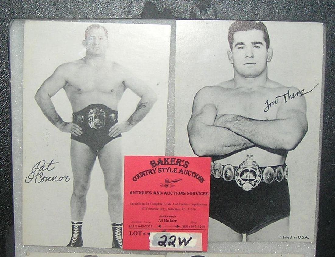 Pair of early wrestlers exhibit penny arcade cards