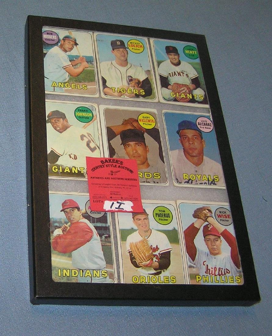 Group of vintage 1969 Topps baseball cards