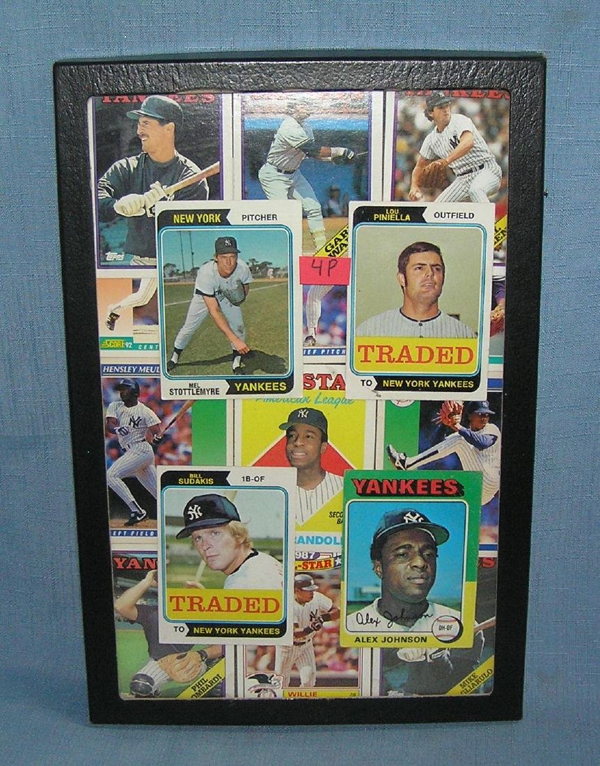 Group of vintage NY Yankees baseball cards