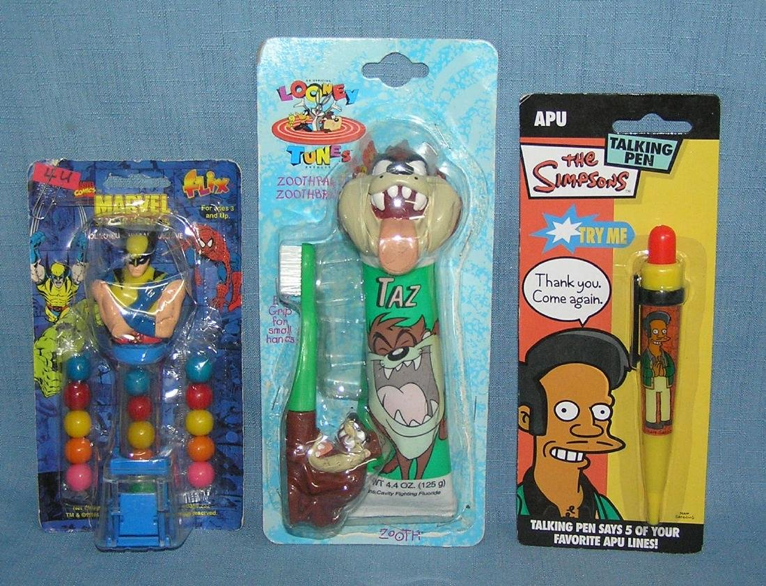 Group of 3 collectible character toys
