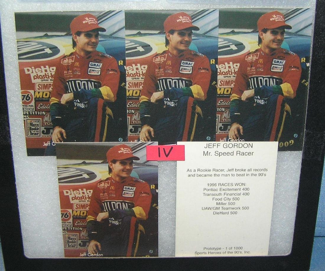 Jeff Gordon Mr. Speedracer NASCAR collector cards