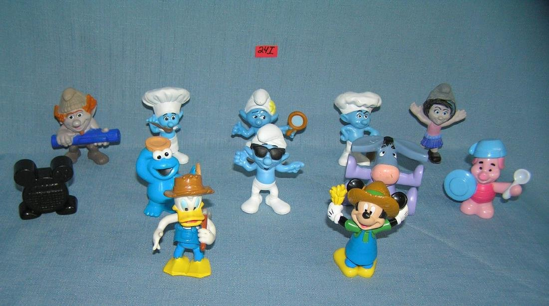 Collection of Smurf, Disney, Muppets and other