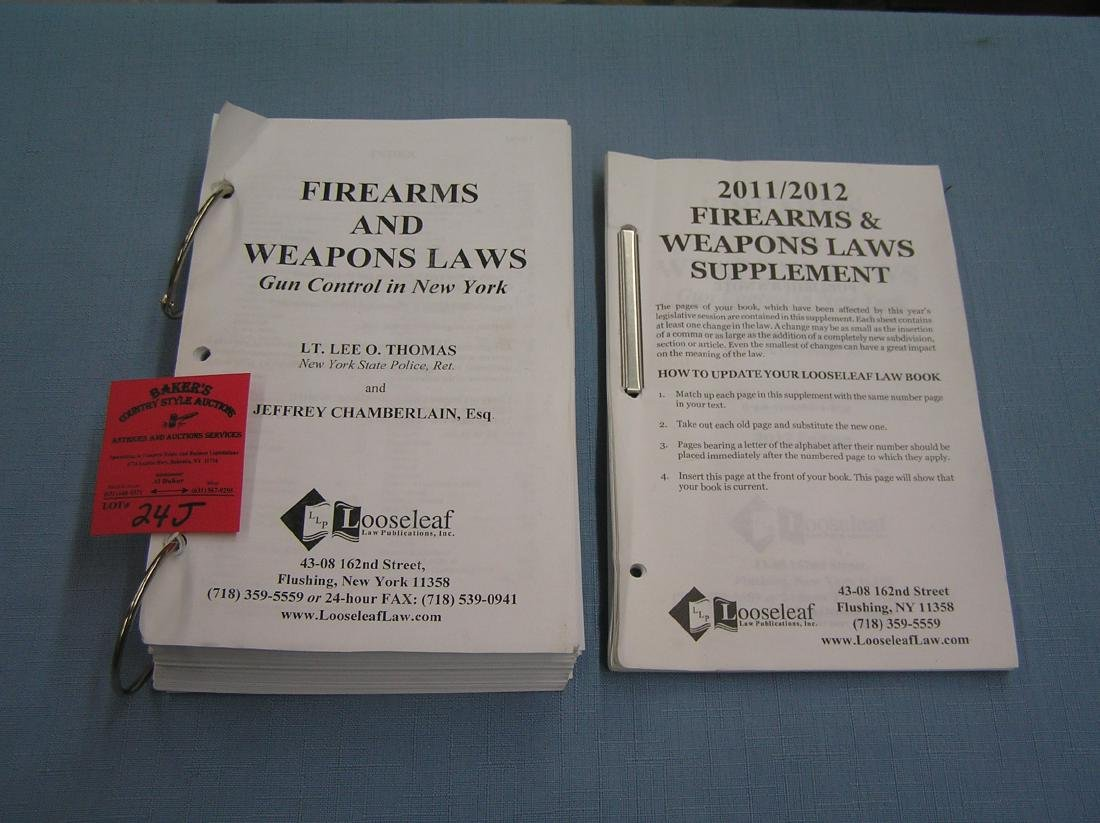 Pair of fire arms and weapons law books