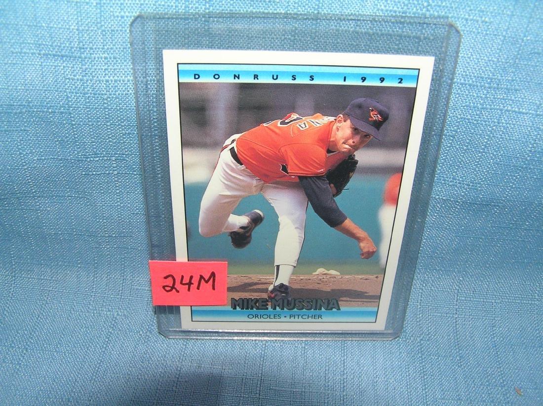 Mike Mussina rookie baseball card
