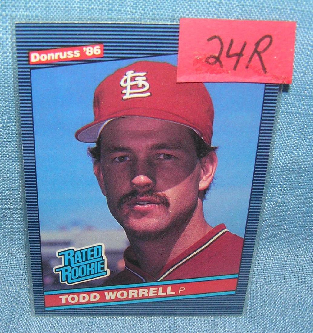Todd Worrel rookie baseball card