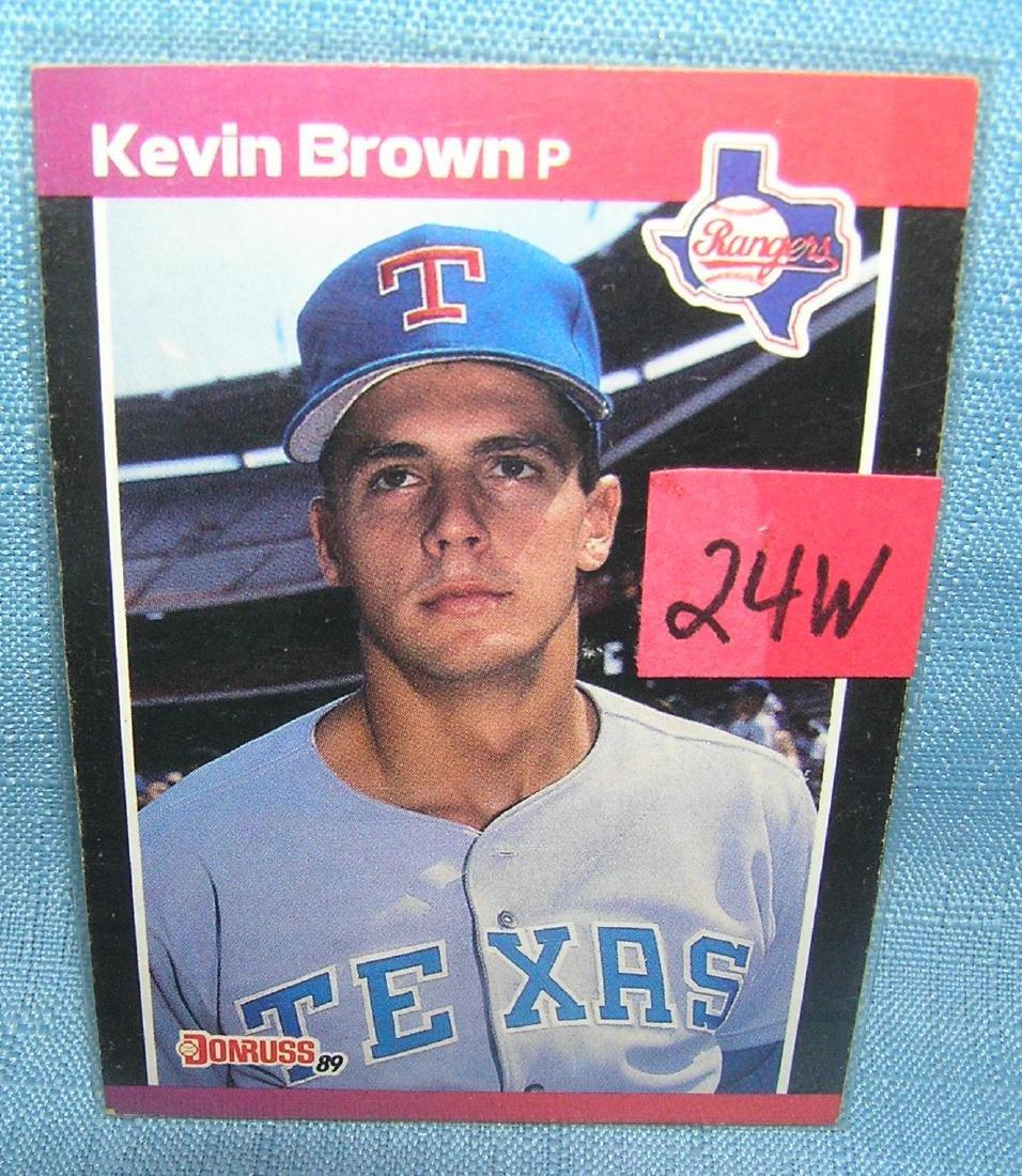 Kevin Brown rookie baseball card