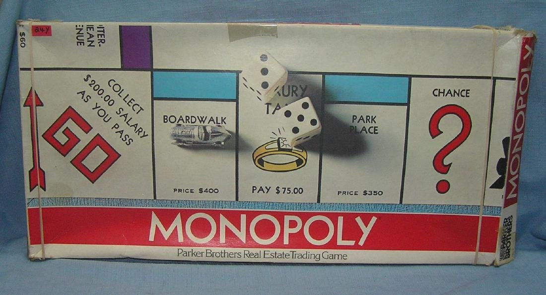Vintage Monopoly board game by Parker Bros.