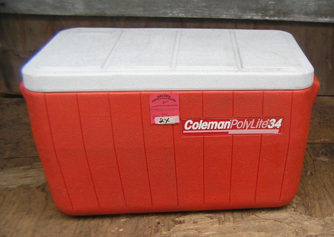 Coleman beach, barbeque or camping cooler