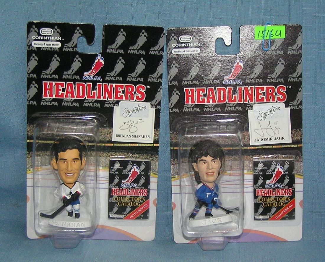 Pair of mini Hockey all star figures