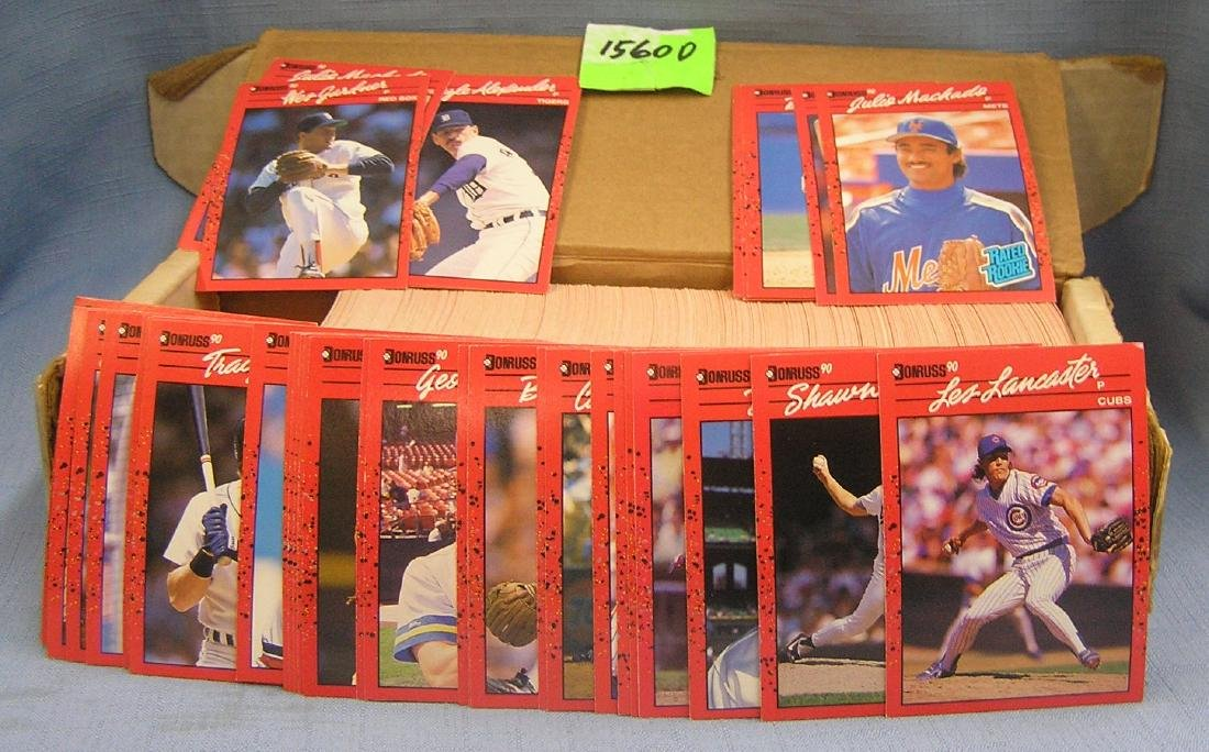 Box of Donruss Baseball cards