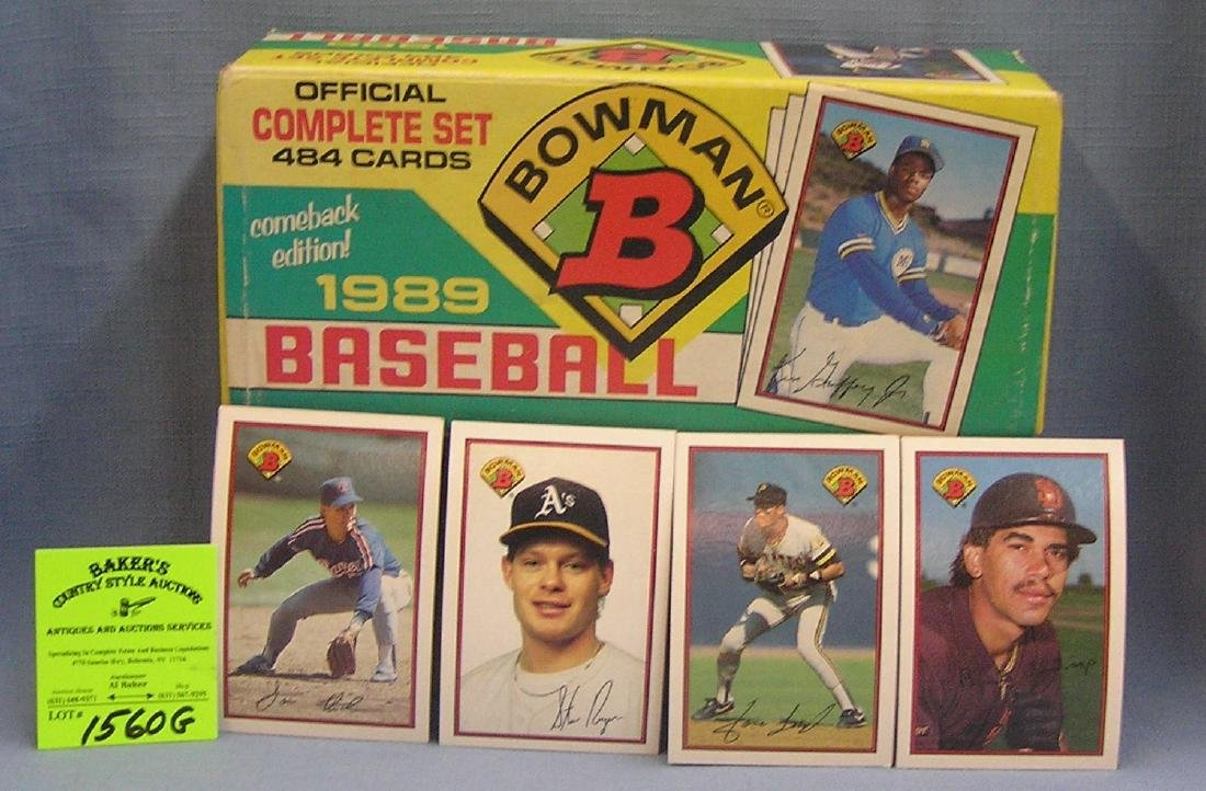 Box full of 1989 Bowmen Baseball cards