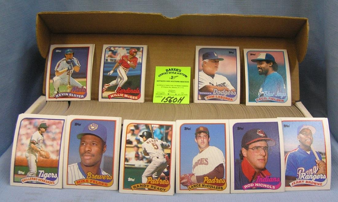Box full of 1989 Topps Baseball cards