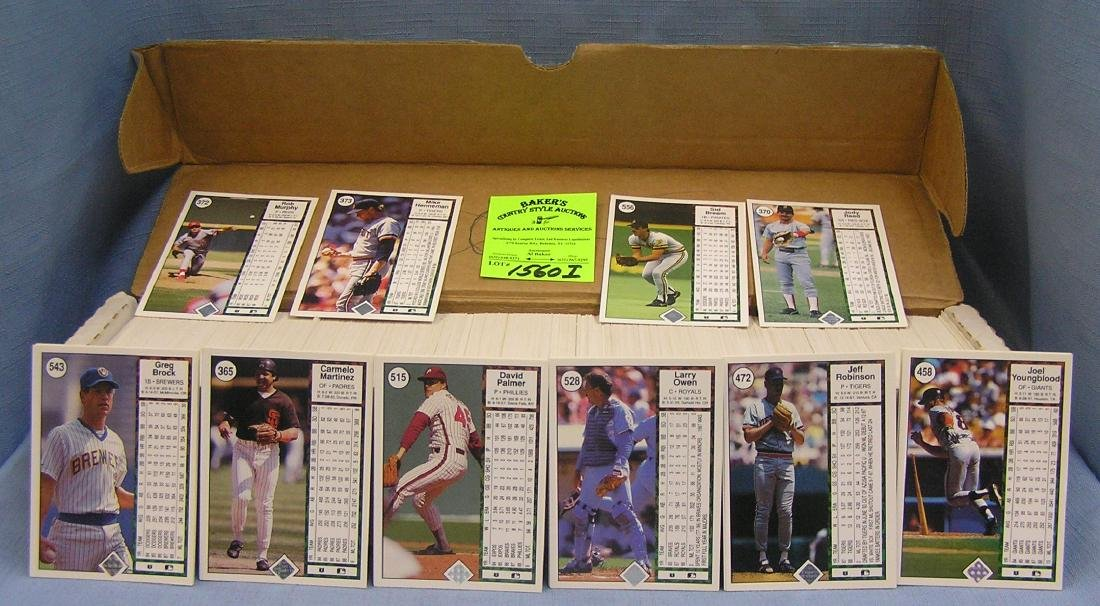 Box full of 1989 Upperdeck Baseball cards