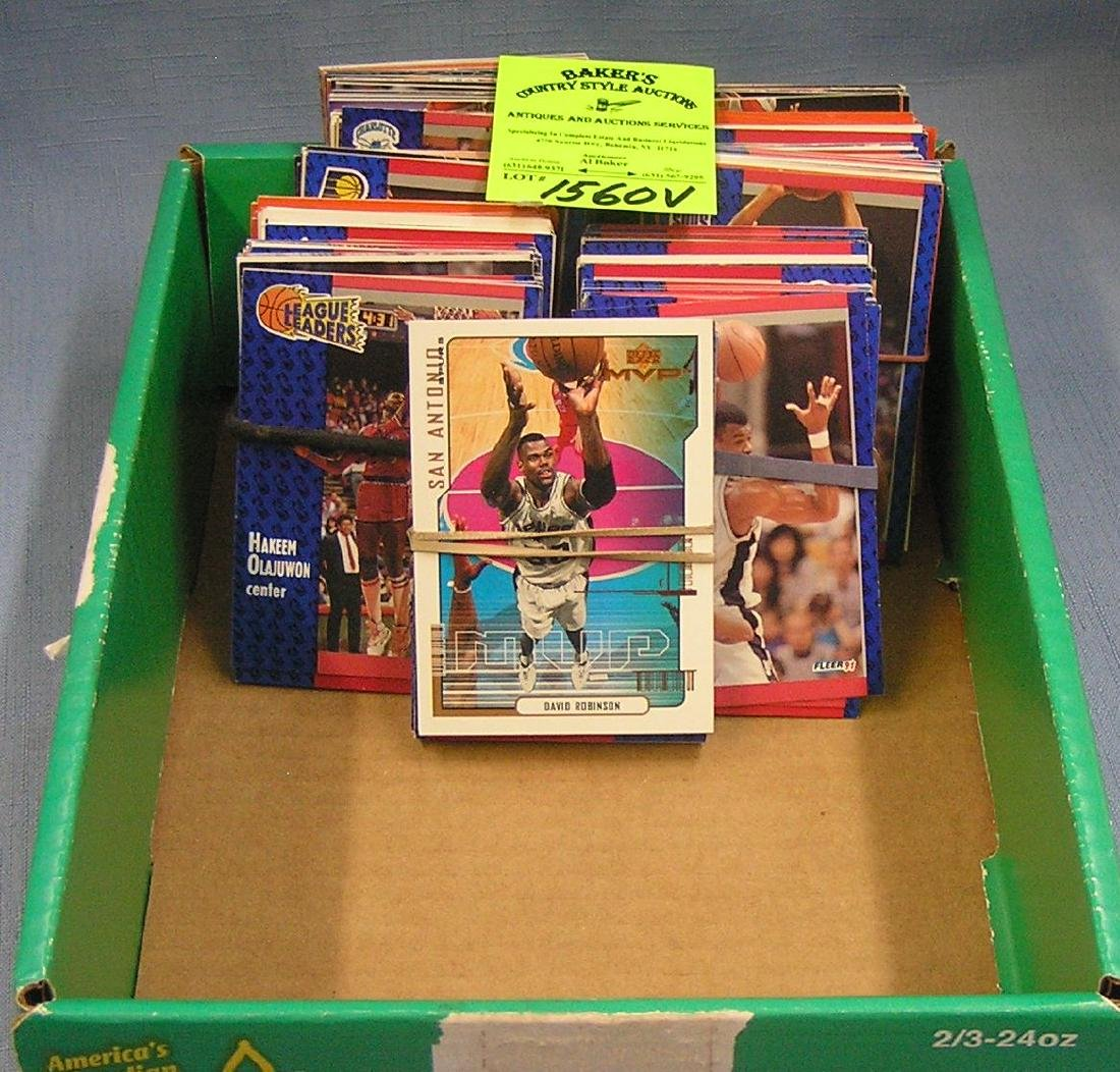 Box full of vintage Basketball cards