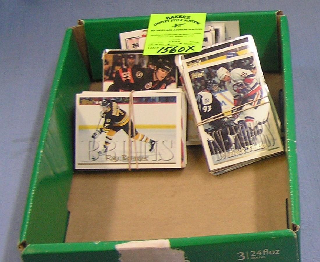 Box of vintage Hockey cards