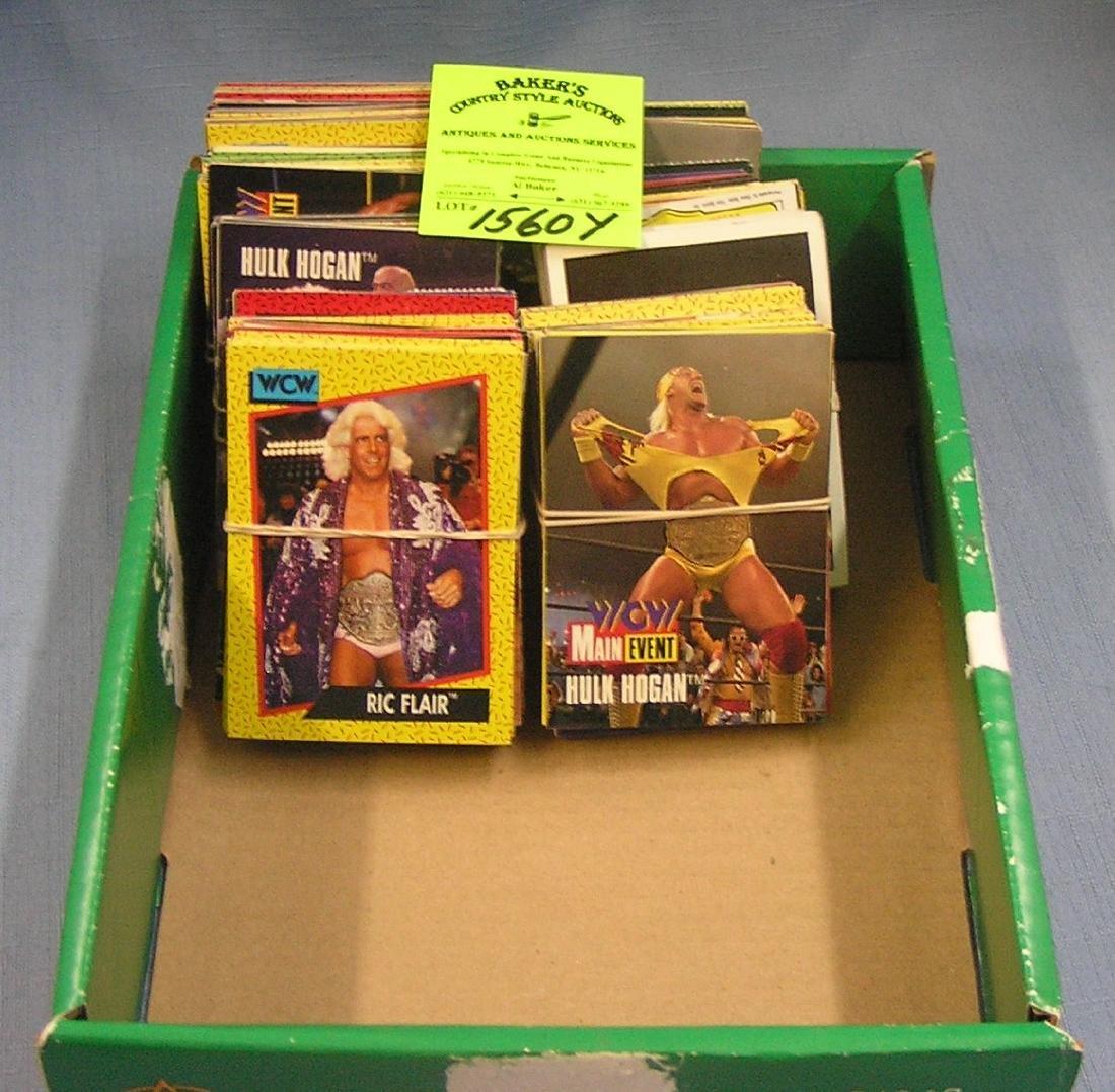 Box of vintage Pro Wrestling cards