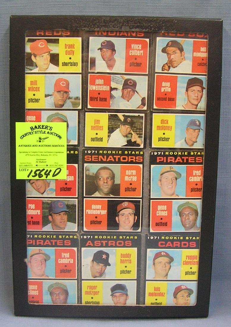 Group of 1971 Topps rookie Baseball cards