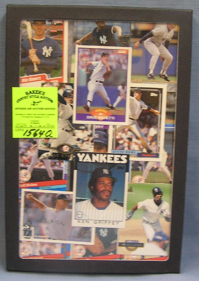 Group of NY Yankees all star Baseball cards