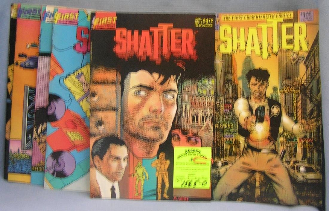 Group of vintage Shatter comic books