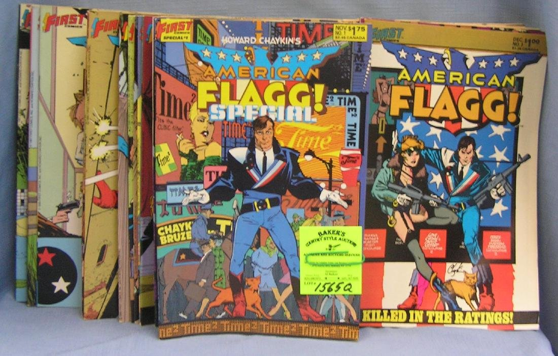 Large collection of American Flag comic books