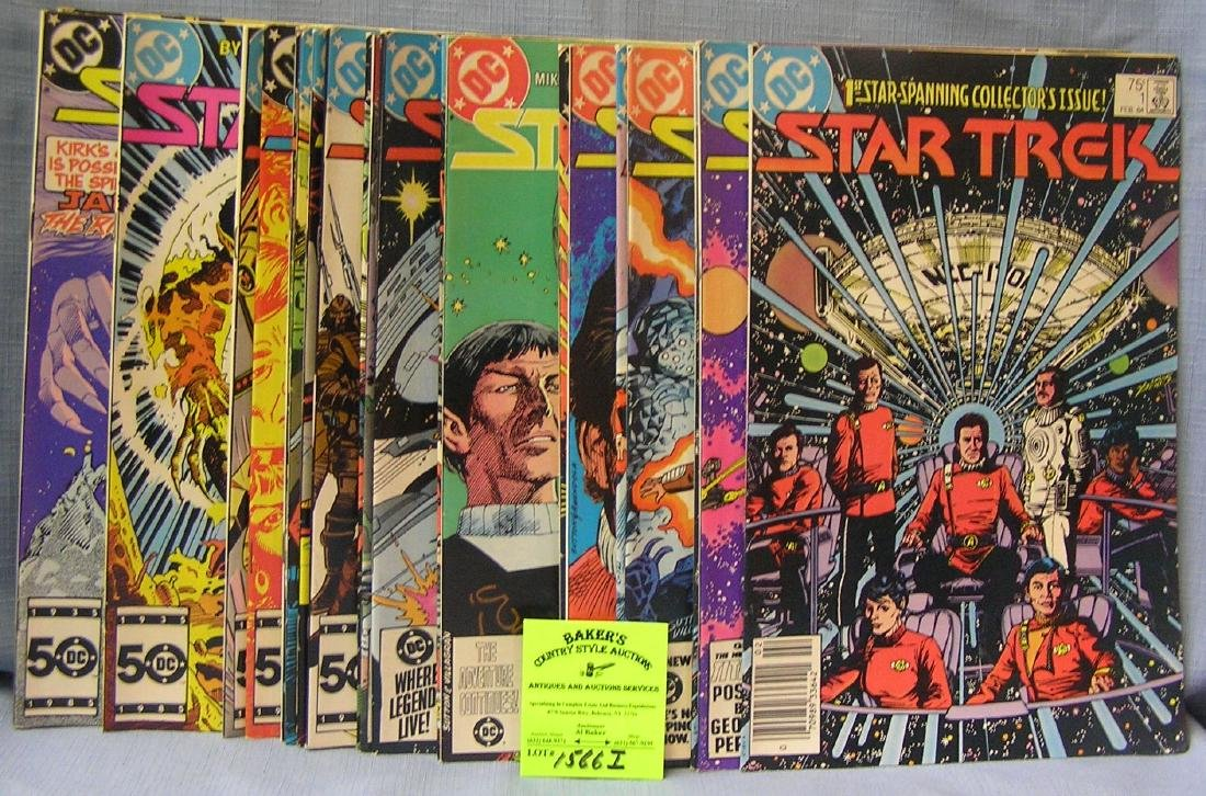 Large group of DC Star Trek comic books