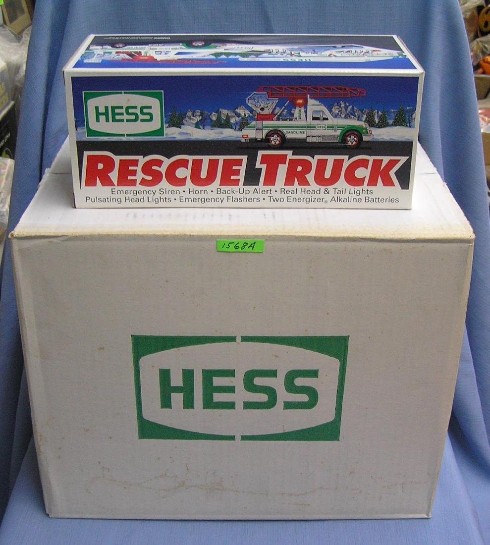 Unopened case of HESS 1994 rescue trucks