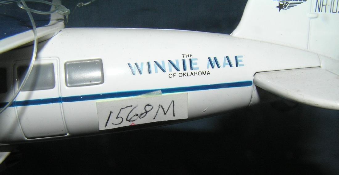All cast metal Lockheed Winnie Mae propeller plane - 2