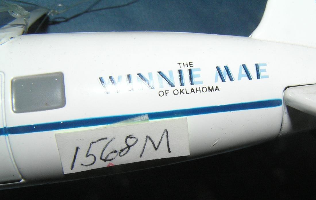 All cast metal Lockheed Winnie Mae propeller plane - 3